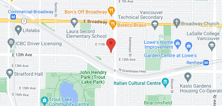 map of 2779 NANAIMO STREET