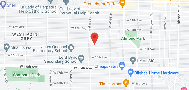 map of 3875 W 14TH AVENUE