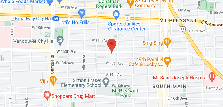 map of 118 W 12TH AVENUE