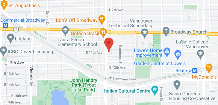 map of 2650 NANAIMO STREET