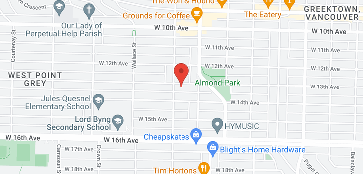 map of 3770 W 13TH AVENUE