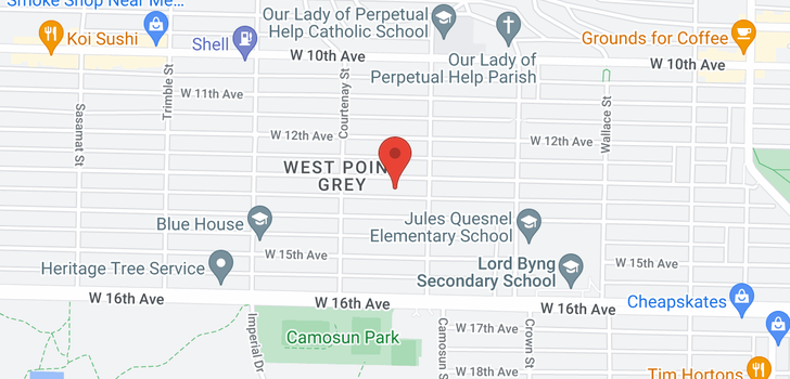 map of 4138 W 13TH AVENUE