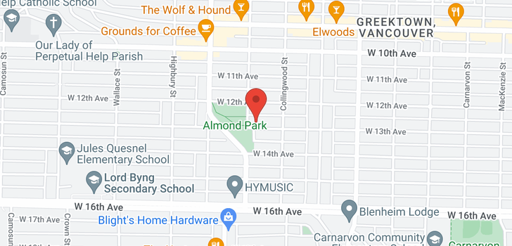 map of 3573 W 13TH AVENUE