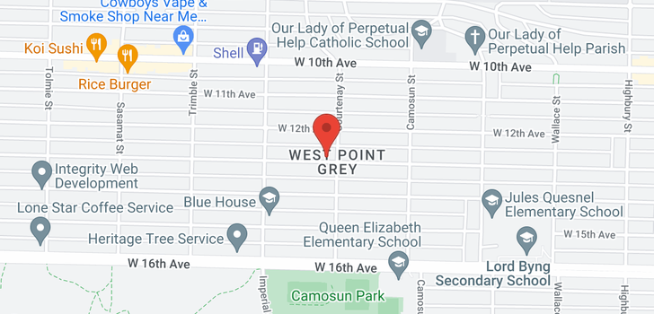 map of 4215 W 13TH AVENUE