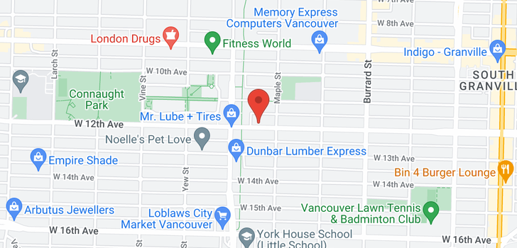 map of 408 2065 W 12TH AVENUE
