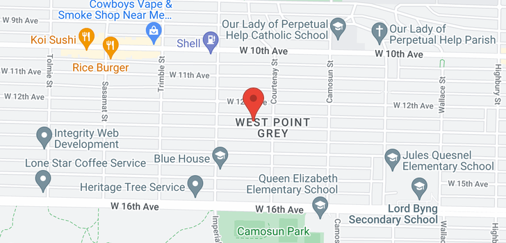 map of 4233- 4237 W 13TH AVENUE