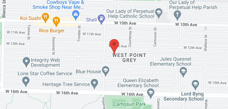 map of 4261 W 13TH AVENUE