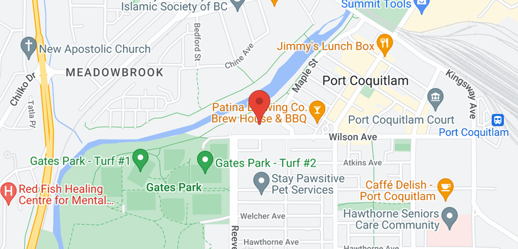 map of 206 2331 KELLY AVENUE
