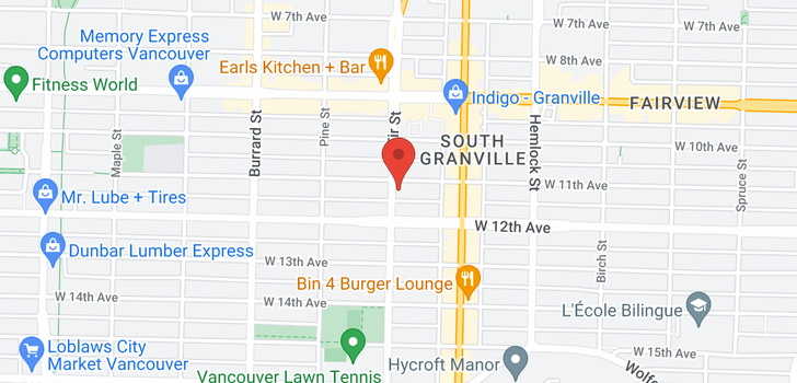 map of 401 1586 W 11TH AVENUE