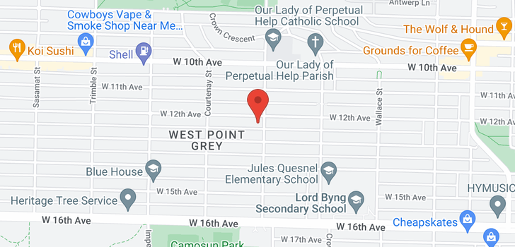 map of 4108 W 12TH AVENUE