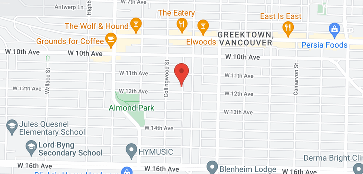 map of 3429 W 12TH AVENUE