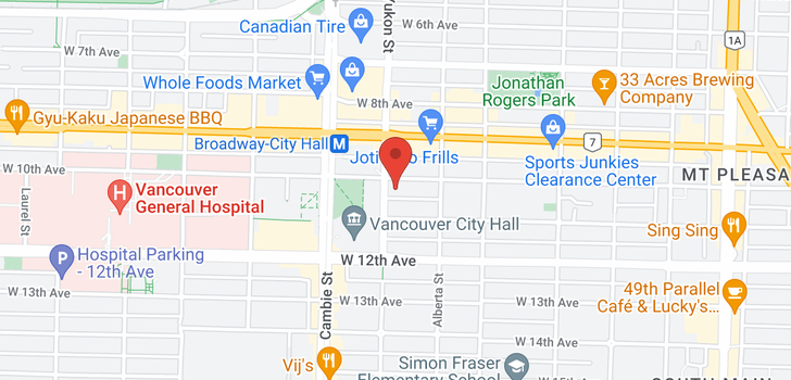 map of 366 W 10TH AVENUE