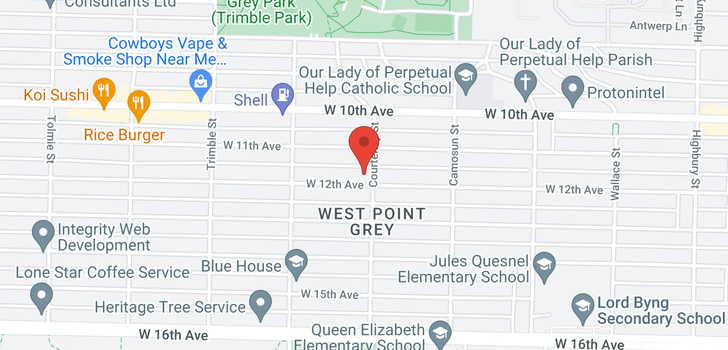 map of 4205 W 12TH AVENUE
