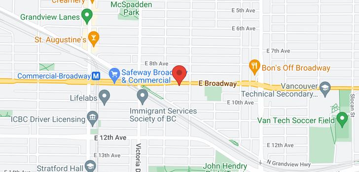 map of 2048 E BROADWAY