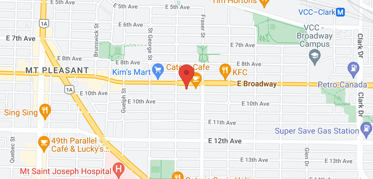 map of 219 630 E BROADWAY STREET
