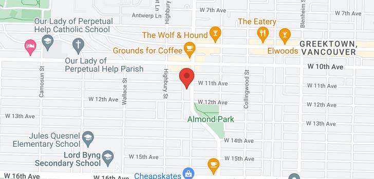 map of 2731 ALMA STREET