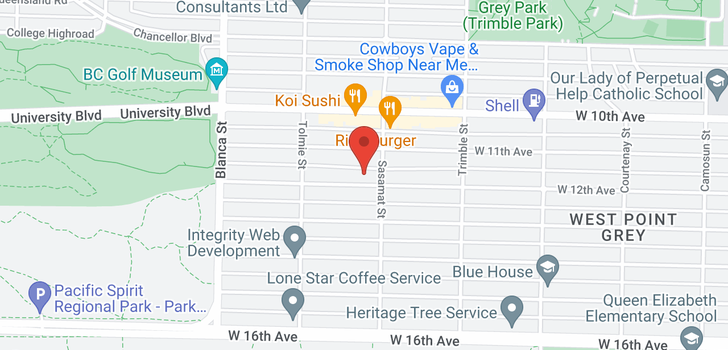 map of 4519 W 12TH AVENUE