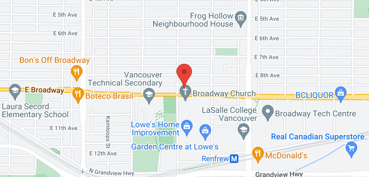 map of 2721 E BROADWAY