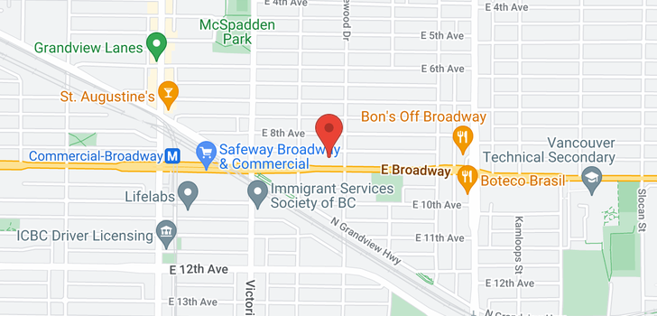 map of 2069 E BROADWAY
