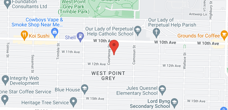 map of 4182 W 11TH AVENUE