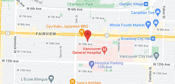 map of 110 925 W 10TH AVENUE