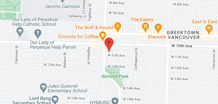 map of 3669 W 11TH AVENUE