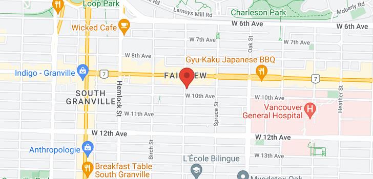 map of 309 2588 ALDER STREET