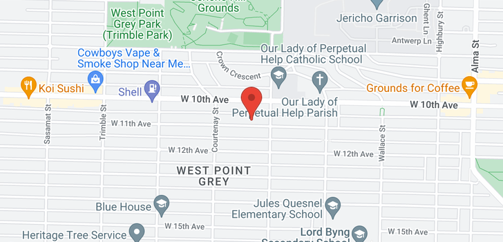 map of 4133 W 11TH AVENUE