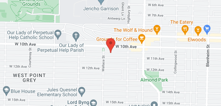 map of 3872 W 10TH AVENUE