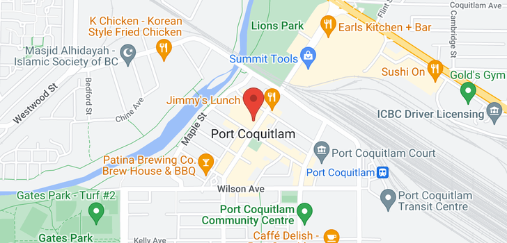 map of 208 2627 SHAUGHNESSY STREET