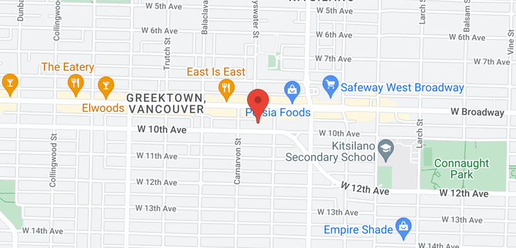 map of 2935 W 10TH AVENUE
