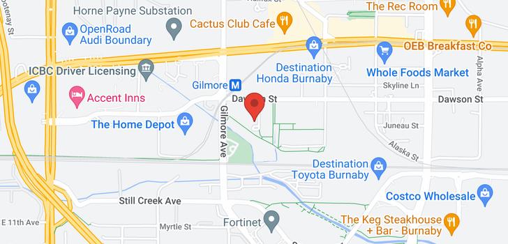 map of 401 4178 DAWSON STREET