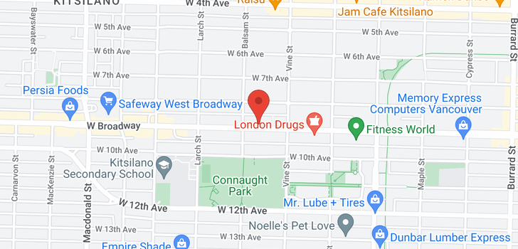 map of 11 2375 W BROADWAY