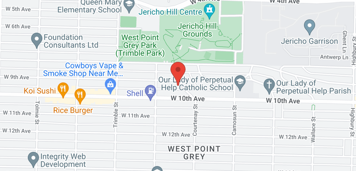 map of 4208 W 9TH AVENUE