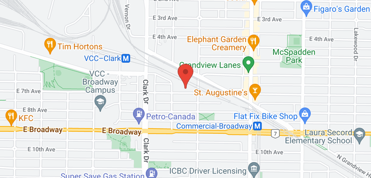 map of 1441 E 7TH AVENUE