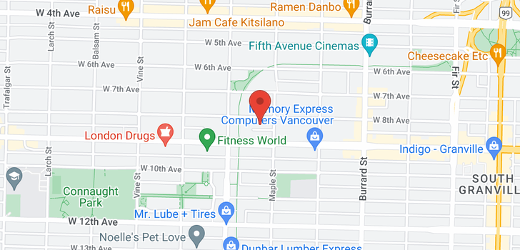 map of 112 2020 W 8TH AVENUE