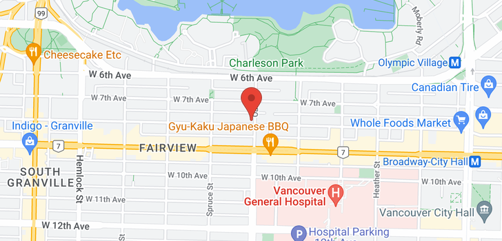 map of 1001 W 8TH AVENUE