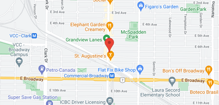 map of 208 2250 COMMERCIAL DRIVE