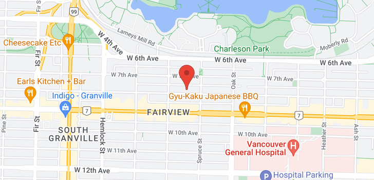 map of 1143 W 8TH AVENUE