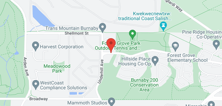 map of 8141 FOREST GROVE DRIVE