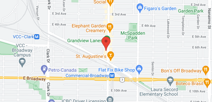 map of 2211 COMMERCIAL DRIVE