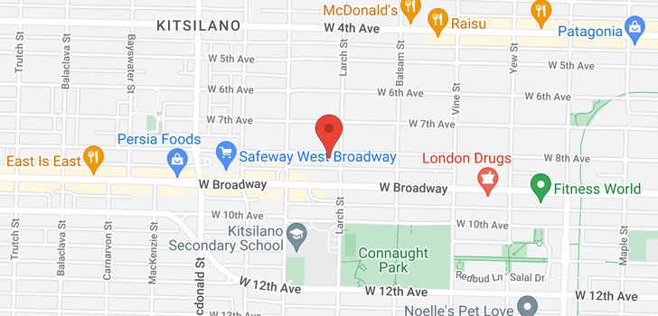 map of 2516 W 8TH AVENUE
