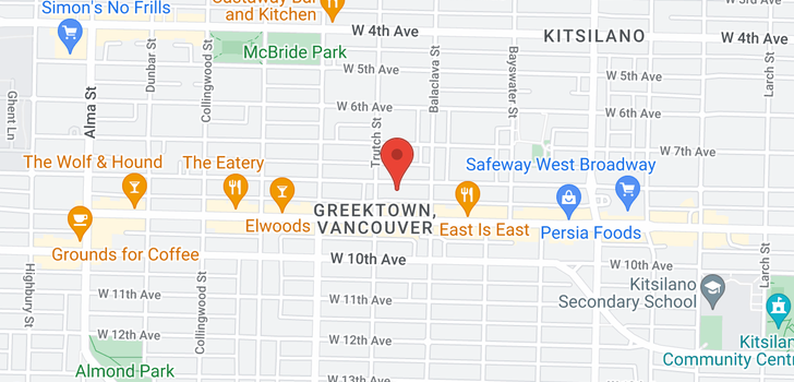 map of 3166 W 8TH AVENUE