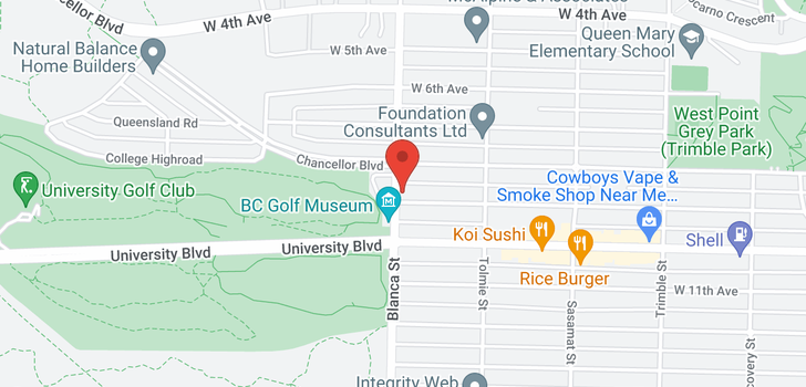 map of 4695 W 9TH AVENUE