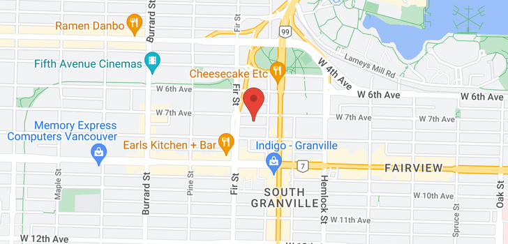 map of 1103 1570 W 7TH AVENUE