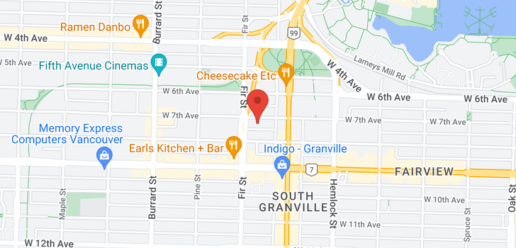 map of 900 1570 W 7TH AVENUE