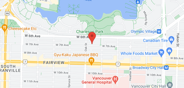 map of 7 939 W 7TH AVENUE