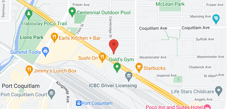 map of 401 1990 WESTMINSTER AVENUE