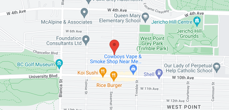 map of 4490 W 8TH AVENUE