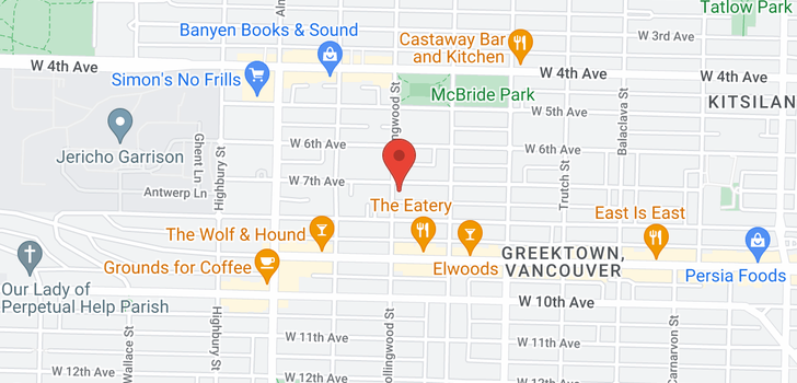 map of 3469 W 8TH AVENUE